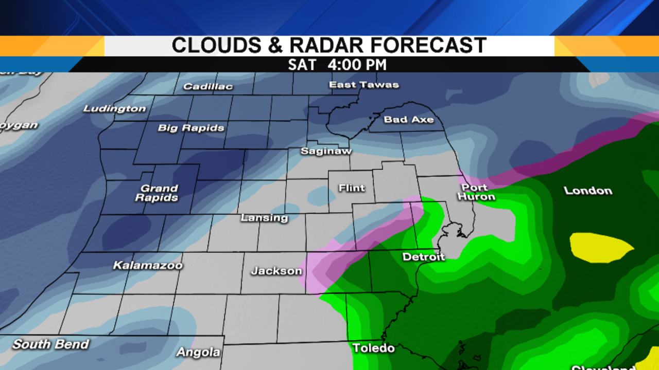 Metro Detroit Weather Details On Weekends Winter Storm - Saturday us weather map
