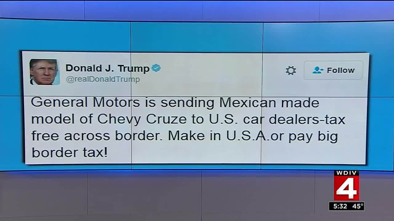 fcbdb98d3ef6 Trump slams GM on Twitter for Mexican-made Chevy Cruze