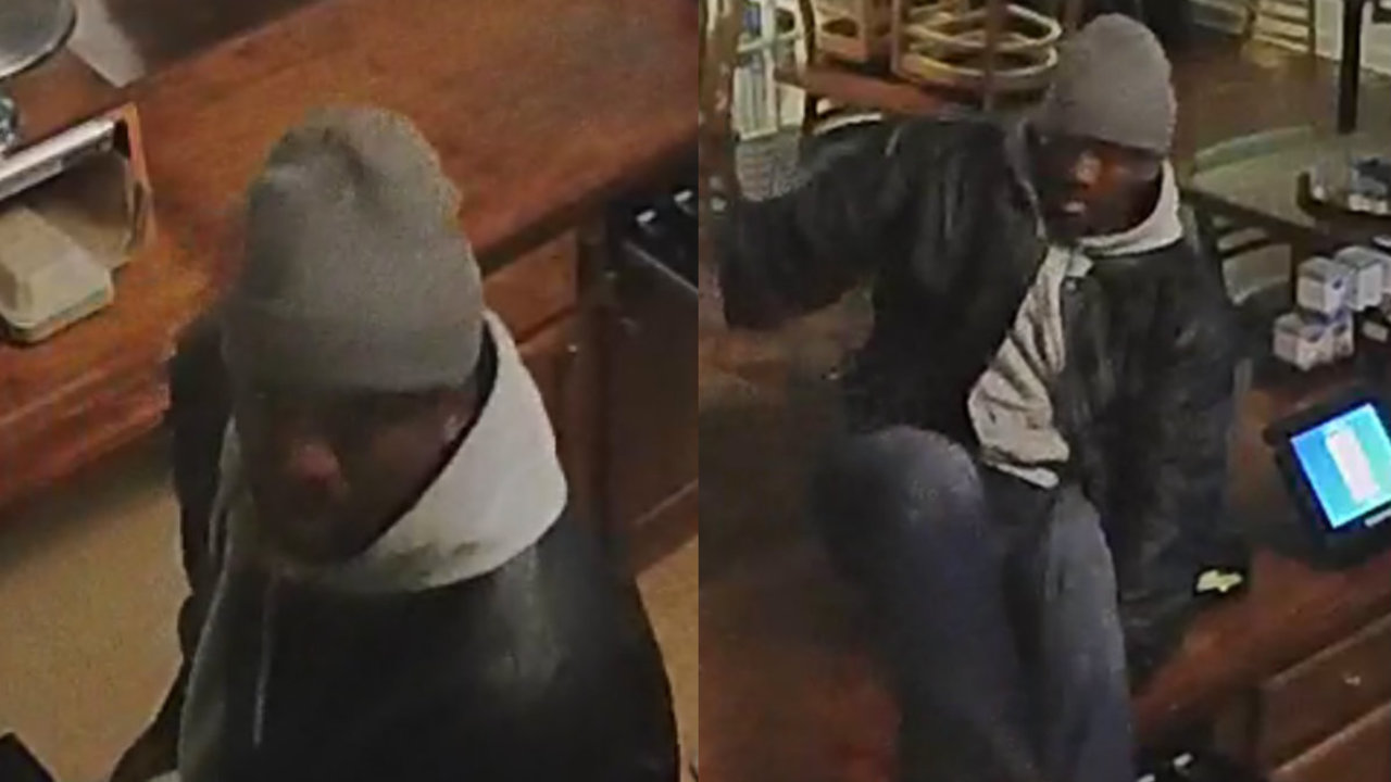 Video shows man breaking into Detroit restaurant, leaving with