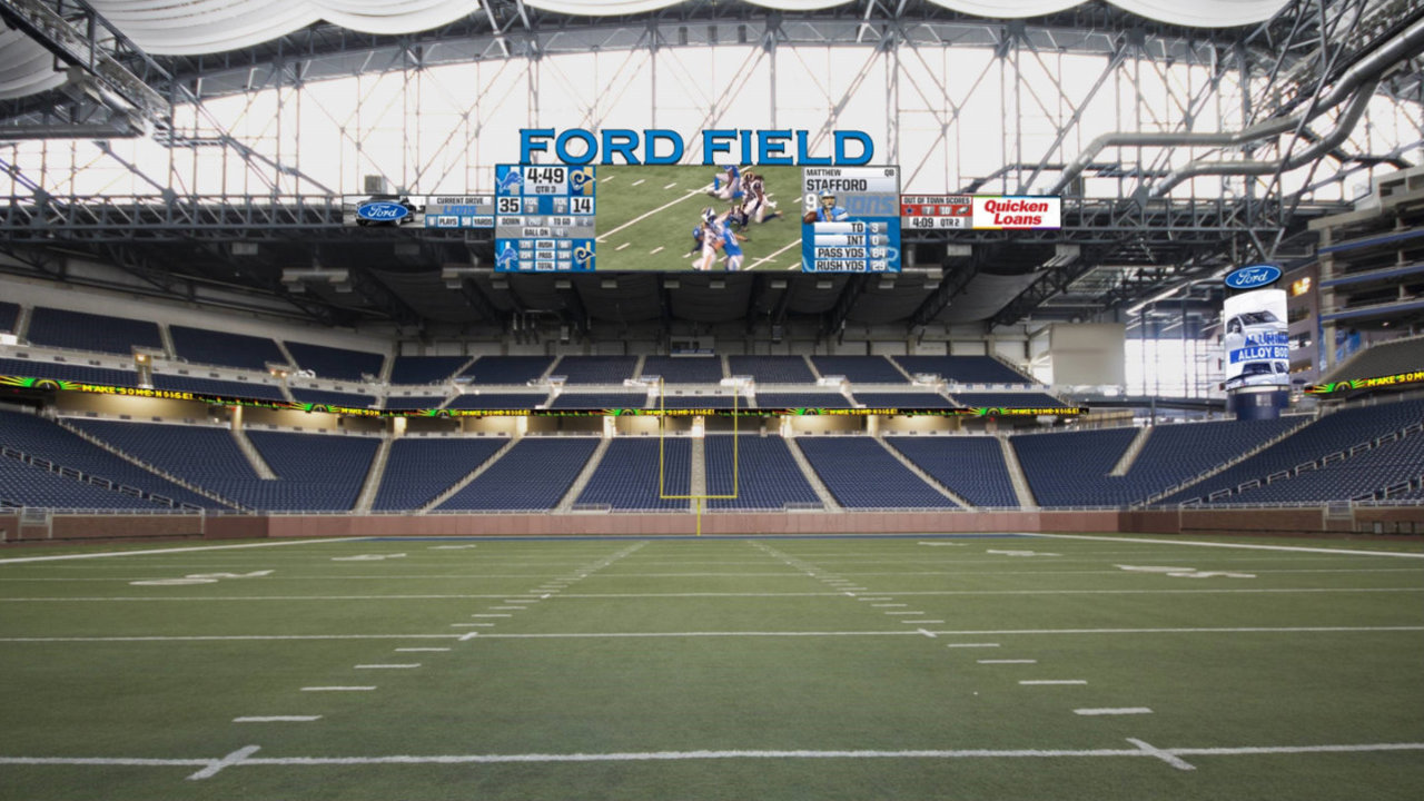Ford Field Renovations Bigger Video Boards New Sound
