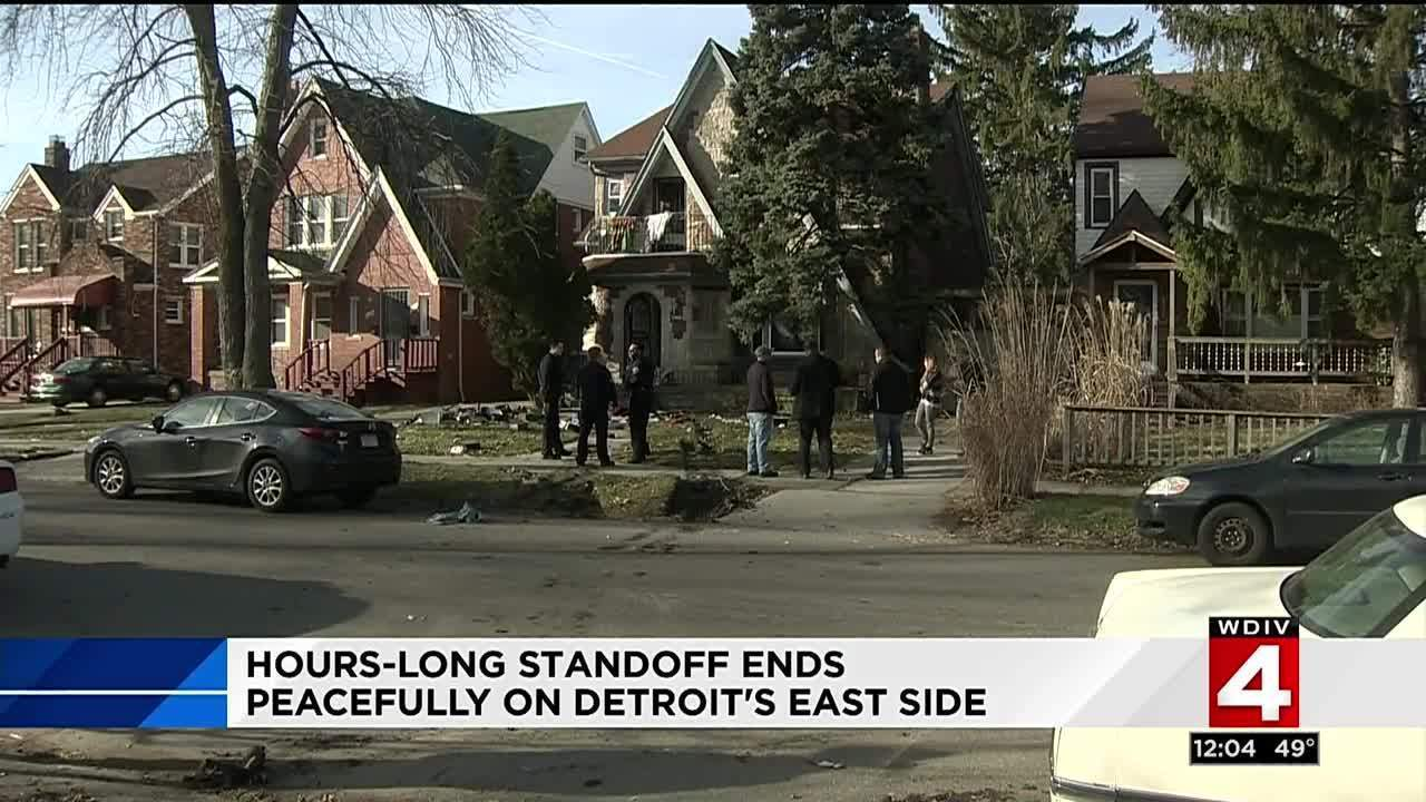 Hours-long standoff ends peacefully on Detroit's east side