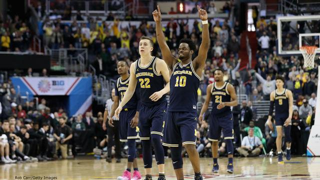 Derrick Walton points Michigan basketball beats Purdue 2017 Big Ten Tournament
