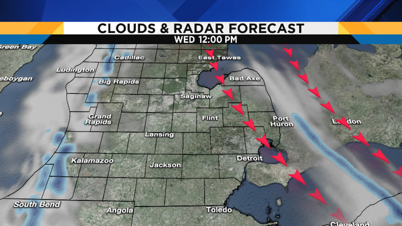 Metro Detroit Weather Tracking Snow Squall - Us weather map lows