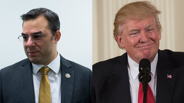 Donald Trump reacts to Michigan congressman's call for his impeachment
