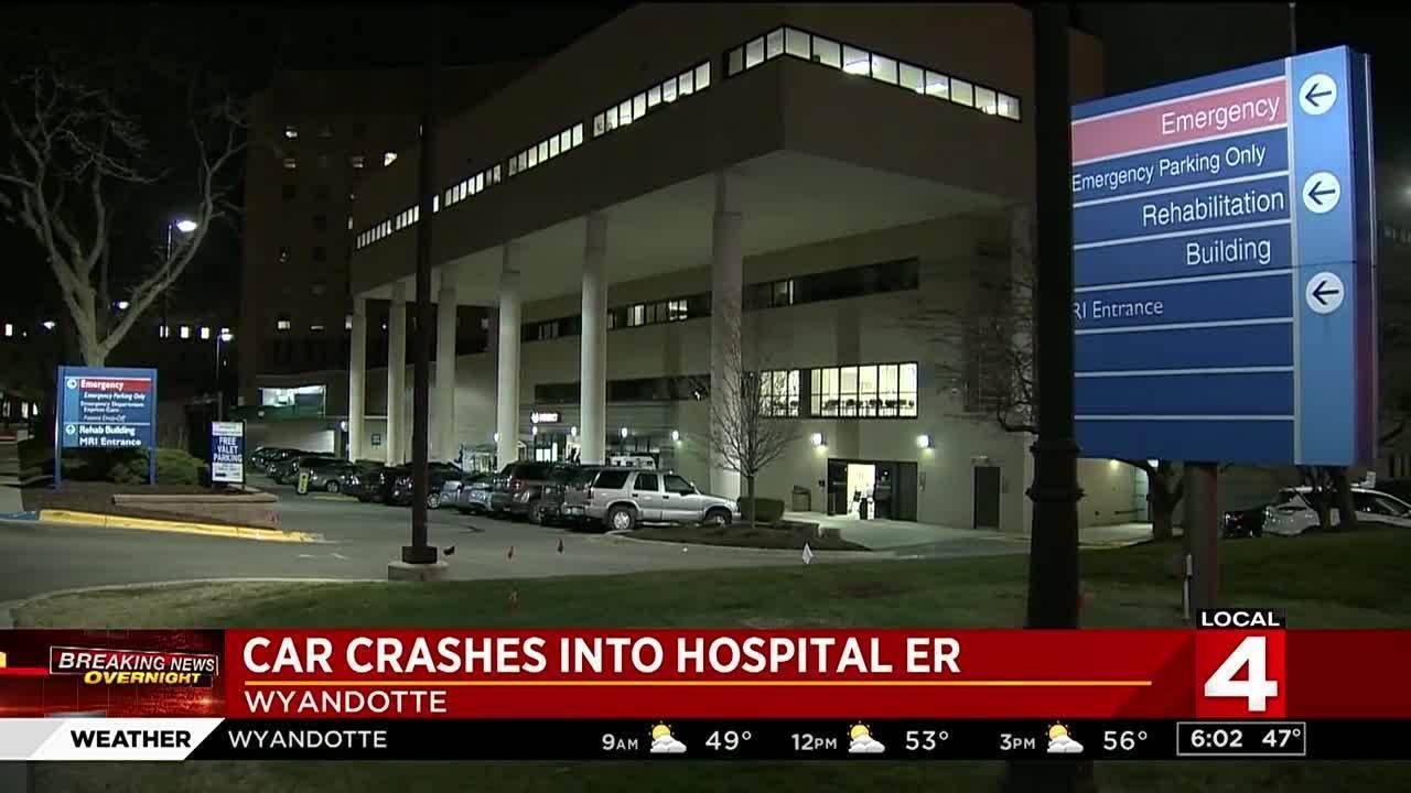 Vehicle Hits Henry Ford Wyandotte Hospital Emergency Room