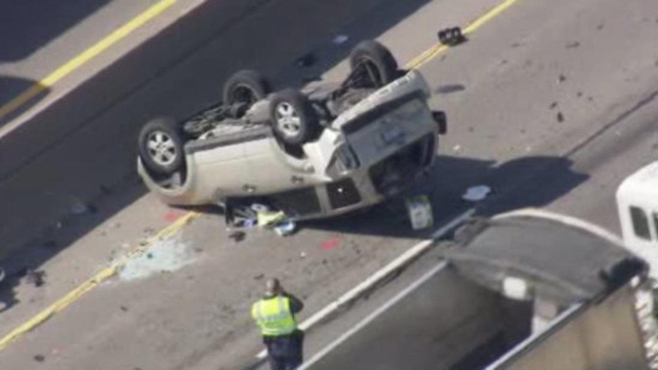 Car Crash On M In Linwood Michigan