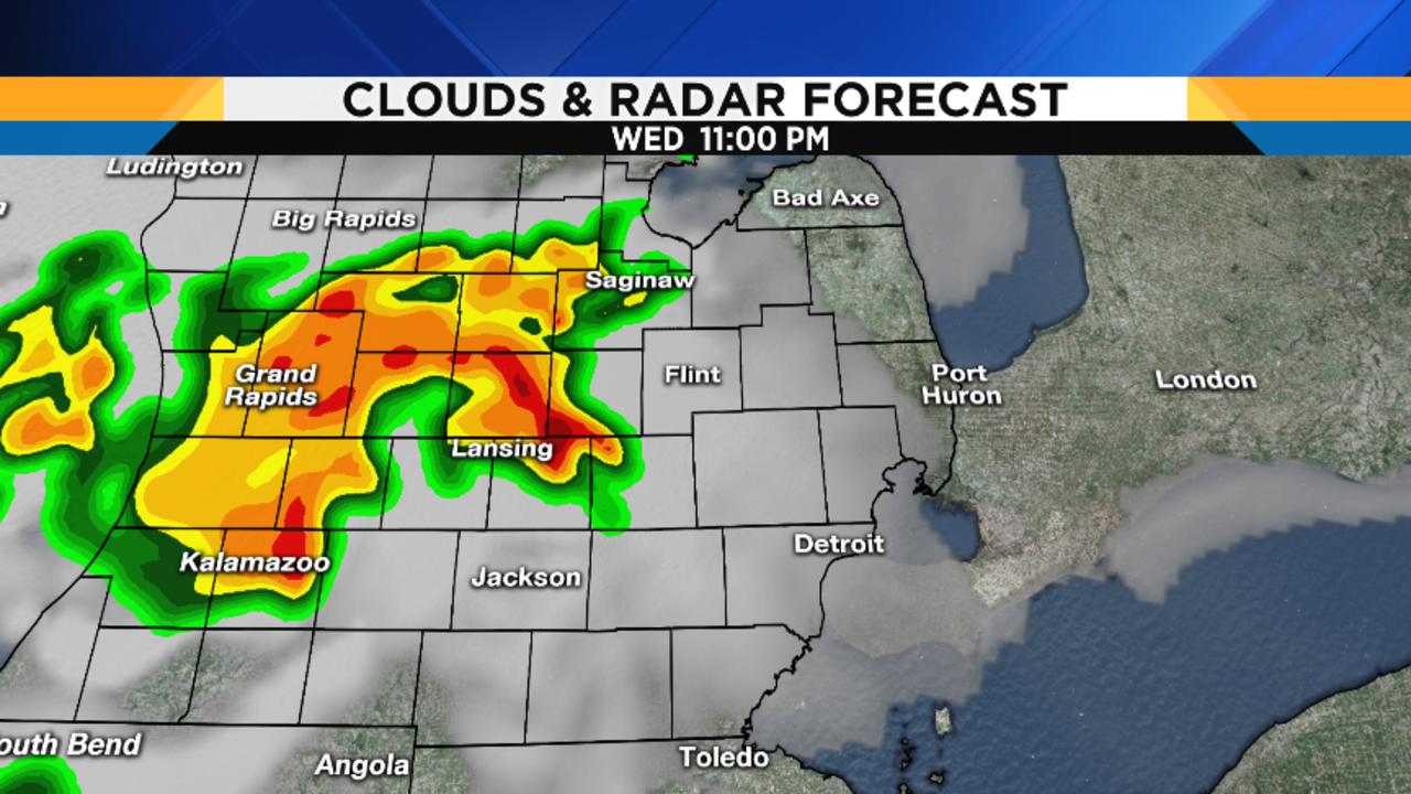 Metro Detroit Weather Balmy Wednesday - West us weather map