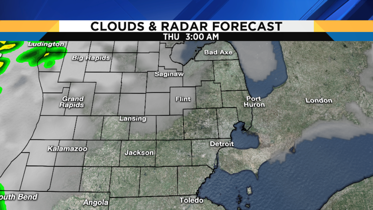 Metro Detroit Weather Balmy Wednesday - Us weather map lows