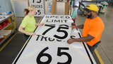 New speed limit signs being prepared for select Michigan highways