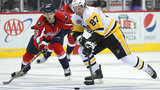 Crosby scores 2 as Penguins top Capitals, 3-2, in Game 1