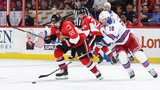 Karlsson's late goal gives Senators 2-1 win over Rangers in Game 1