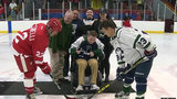 Red Wings alumni game draws big crowd to support paralyzed Dakota HS student