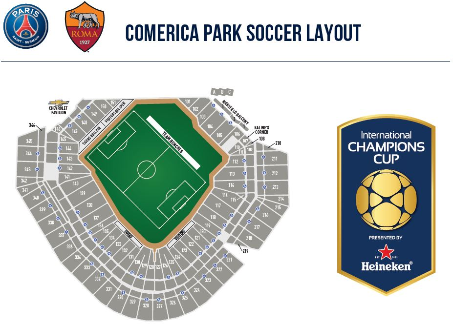 Comerica Park to host European soccer match in July