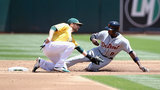 A's get to K-Rod in 9th inning again, rally past Tigers 8-6