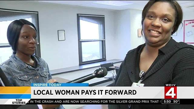 Inspire Today: Local woman pays it foward