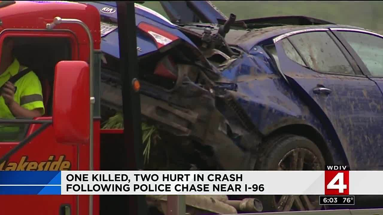 One killed, two hurt in crash following police chase near I-96