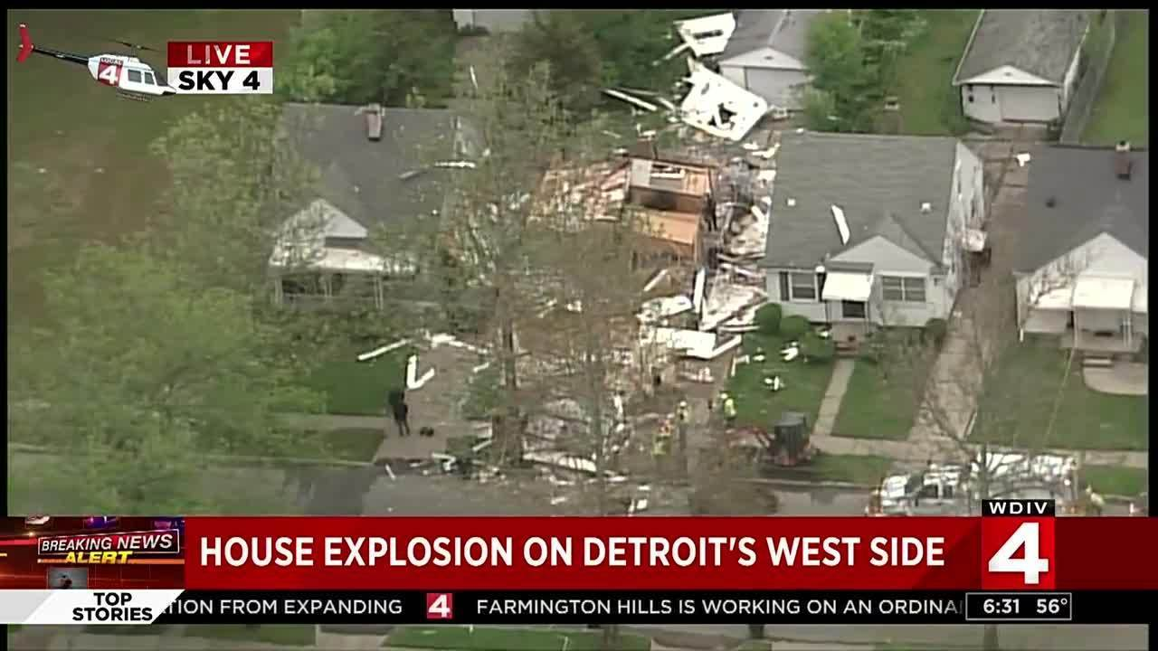 House Explodes On Evergreen Road In Detroit No Injuries
