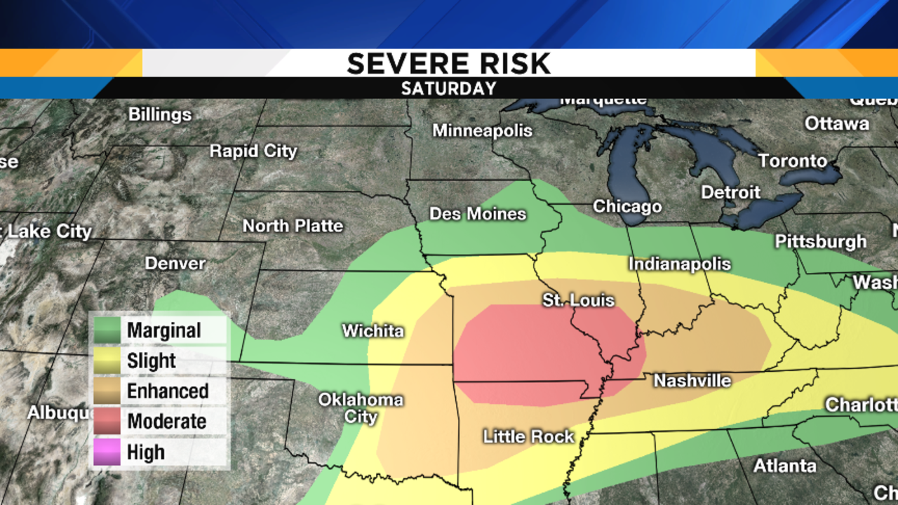 Here S The Storm Prediction Center S Severe Storm Risk Areas For The Upcoming Weekend And You Ll Notice That They Have Us In The Marginal Risk Area For