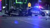 WATCH: Car slams into hair salon during drag race on Detroit's west side