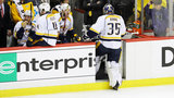 Predators goalie Pekka Rinne struggling as Penguins take 2-0 lead