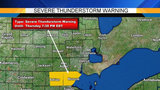 Severe thunderstorm warnings issued for several Metro Detroit counties
