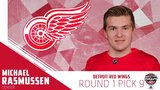 Red Wings select F Michael Rasmussen at 9th overall in 2017 NHL Entry Draft