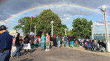 Double rainbow lights up Detroit before fireworks