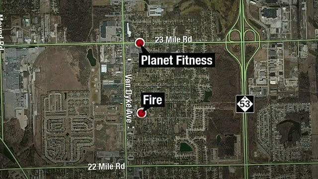 Meth lab fire Shelby Township map