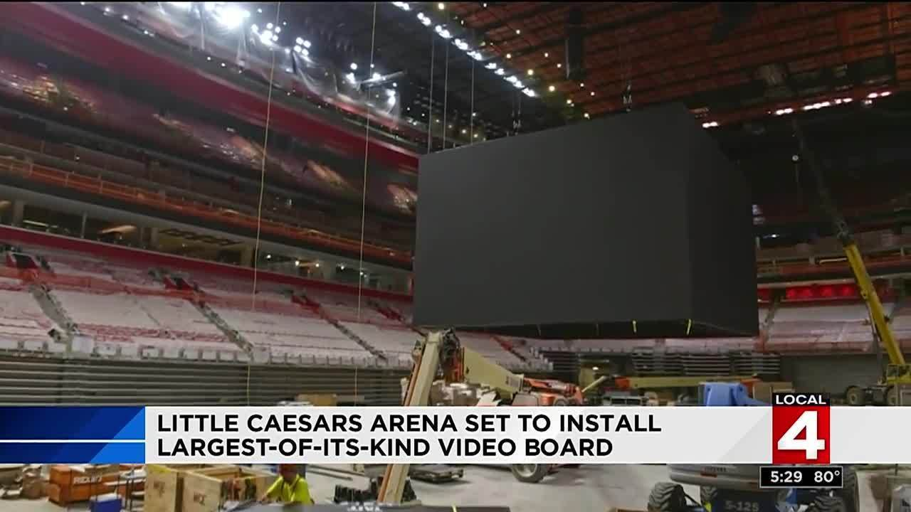 Little Caesars Arena scoreboard will be largest of its kind