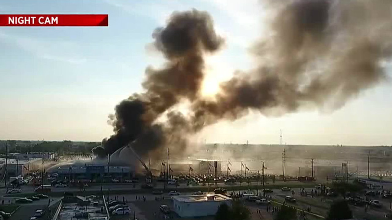 Michigan Car Dealership Fire