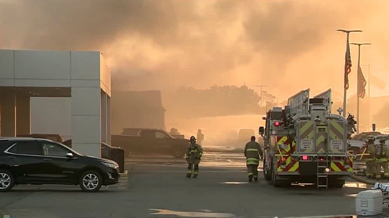 Buff Whelan Chevrolet Dealership Fire 30 Vehicles Burned