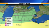 Marginal risk for severe weather Thursday afternoon in SE Michigan