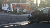 Ambulance struck in crash on Detroit's west side, police say