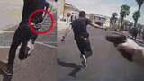 BODYCAM: Police shooting in Las Vegas after robbery suspect runs,&hellip&#x3b;