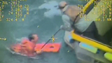VIDEO: Fisherman rescued from frigid Alaskan waters after being thrown overboard