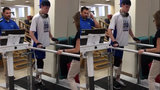 VIDEO: I-96 crash victim Sean English takes first steps with prosthetic leg