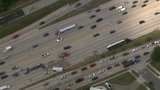 Semi truck turns over in crash on I-96 at Outer Drive in Detroit