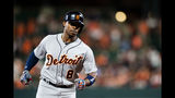 Upton slam, Verlander's arm carry Tigers past Orioles 5-2