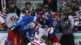 VIDEO: Brawl erupts between Canada, Russia at pre-Olympic ice hockey tournament