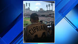 Sal Cipriano throws out first pitch at Tigers game