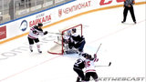 Mason Raymond scores lacrosse-style 'Michigan' goal at Sochi Hockey Open