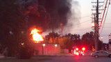 DTE substation in Plymouth engulfed in flames
