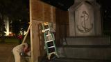 LOOK: Walls go up around Confederate monument in Birmingham, Alabama
