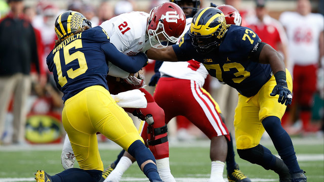 Chase Winovich and Maurice Hurst Michigan football vs Indiana 2016