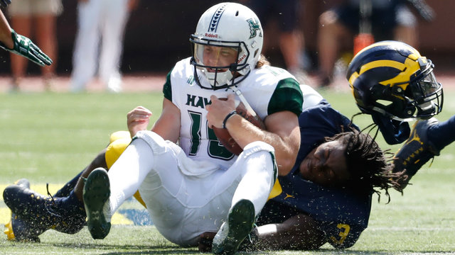 Rashan Gary Michigan football vs Hawaii 2016