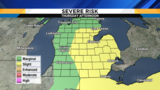SE Michigan weather forecast: Continuing to monitor a severe storm threat