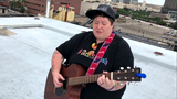 Singer Acoustic Ash performs on rooftop of Local 4 in Detroit