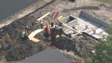 2 workers rescued from collapsed trench in Chesterfield Township