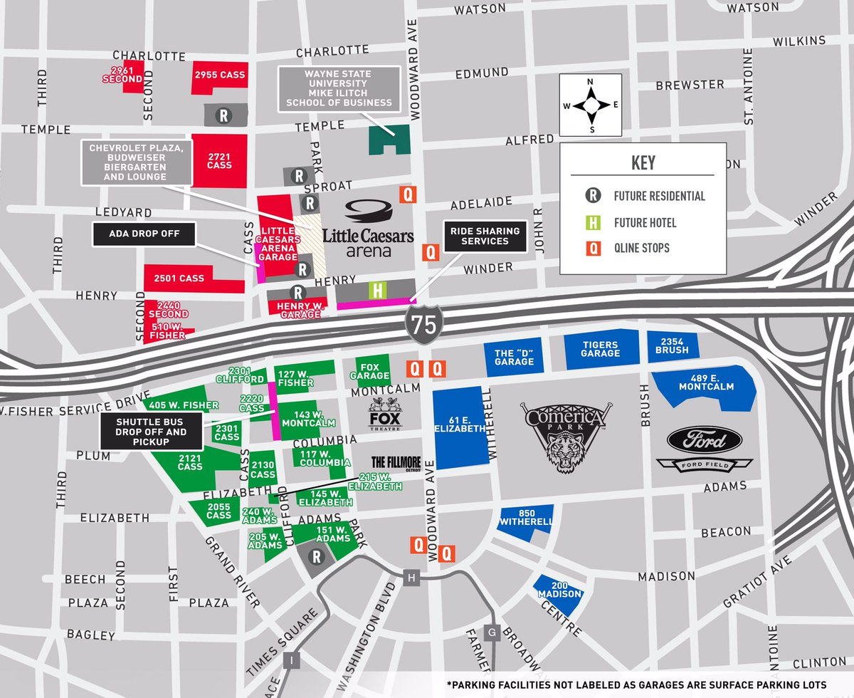 picture regarding Little Caesars Printable Application known as Small Caesars Arena: Check out parking maps, in concourse maps