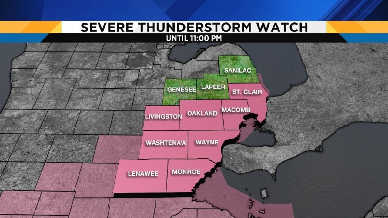 Severe thunderstorm watch in SE Michigan canceled